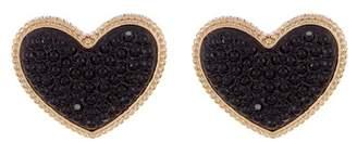 Ettika Heart Stud Earrings