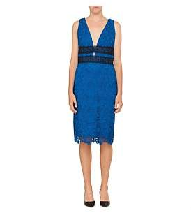 Diane von Furstenberg Viera Bicolour Lace Dress