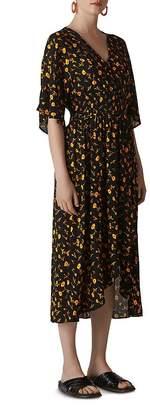 Whistles Aster Floral Midi Dress