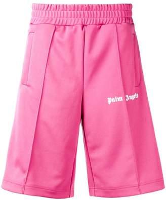 Palm Angels logo print track shorts