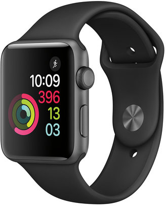 Apple Watch Series 2 42mm Space Gray Aluminum Case with Black Sport Band $399 thestylecure.com