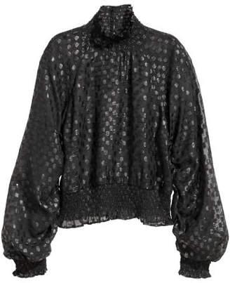 H&M Ruffled Blouse - Black