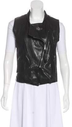 Nili Lotan Leather Zip-Up Vest