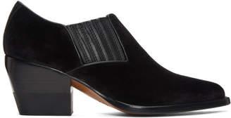 Chloé Black Velvet Rylee Boots