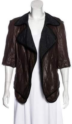 Marni Shawl Collar Leather Jacket