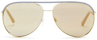 Kenneth Cole Reaction Women&s Metal Aviator Sunglasses $50 thestylecure.com