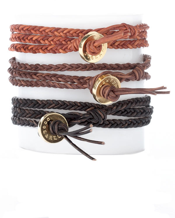 Dogeared Triple Wrap Leather Bracelet