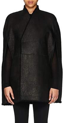 Rick Owens Women's Shearling Cape - Black