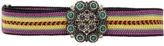 Etro Striped Jewel Buckle Belt