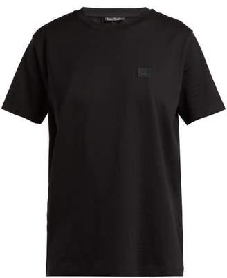 Acne Studios Nash Face Cotton Jersey T Shirt - Womens - Black
