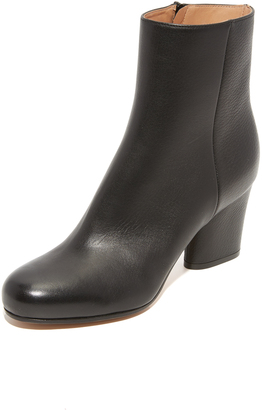 Maison Margiela Leather Booties $855 thestylecure.com