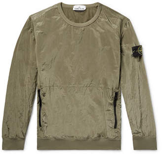 Stone Island Garment-Dyed Nylon-Metal Sweatshirt