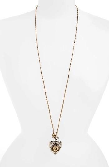 Alexander McQueenWomen's Alexander Mcqueen Heart Locket Necklace