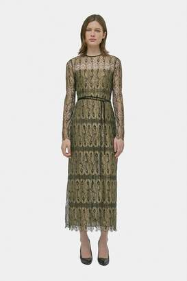 Yigal Azrouel Marigold Peacock Lace Dress