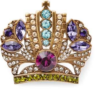Ralph Lauren Crown Crystal Brooch