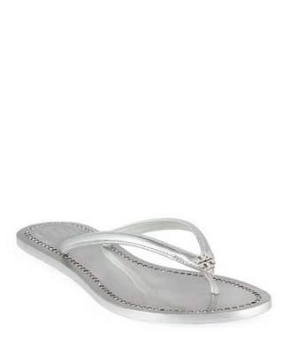 Tory Burch Liana Flat Metallic Leather Thong Sandals