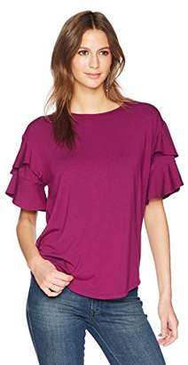 Ella Moon Women's Vienna Double Flare Sleeve Top with Keyhole Back Top