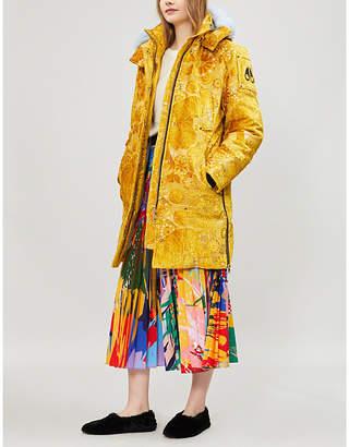 Moose Knuckles x Mary Katrantzou Isobel faux fur-trimmed velvet parka coat