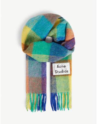 Acne Studios Check print scarf
