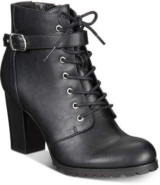 Style&Co. Style & Co Cayte Lace-Up Ankle Booties