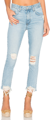 Lovers + Friends Logan High-Rise Tapered Jean $188 thestylecure.com