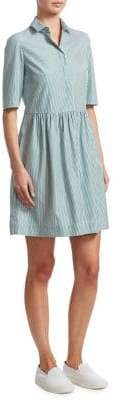 Akris Punto Pinstripe Shirt Dress
