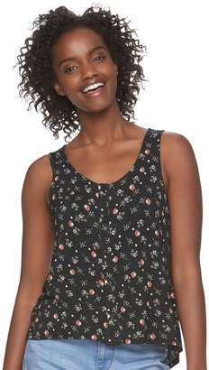 Love, Fire Love Fire Juniors' Printed Button Front Tank