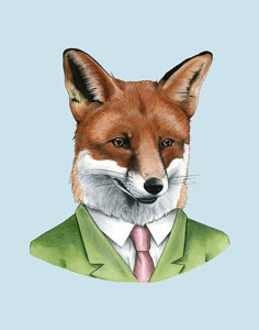 Berkley Illustration Red Fox Portrait Print