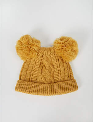 Bobble George Mustard Yellow Double Hat