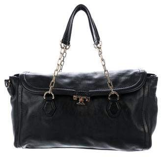 Tory Burch Leather Chain-Link Satchel