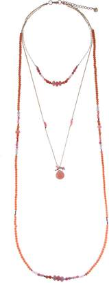 Nakamol Design Layered Crystal & Drusy Necklace