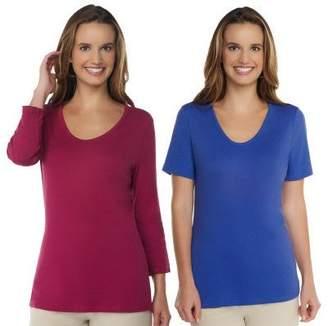 Liz Claiborne New York Essentials Set of 2 Knit T-Shirts