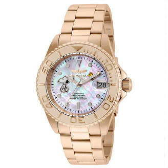 Invicta Disney Snoopy Unisex Rose Goldtone Strap Watch-24789