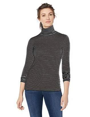 Amazon Essentials Women's Long-Sleeve Stripe Turtleneck