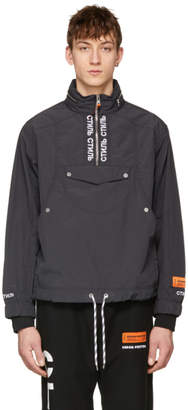 Heron Preston Black Style Turtleneck Windbreaker Jacket