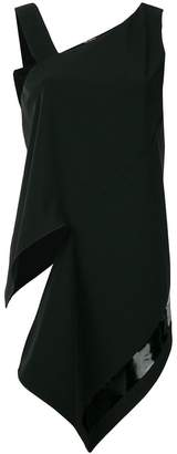 Neil Barrett asymmetric draped wrap style top