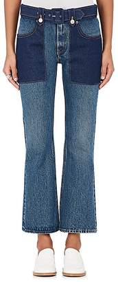 MM6 MAISON MARGIELA WOMEN'S BELTED FLARED JEANS