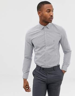0fa6c63c Calvin Klein easy iron slim fit shirt navy stripe