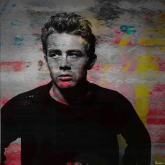 Parvez Taj James Dean Torn Sweater Art Print on Canvas