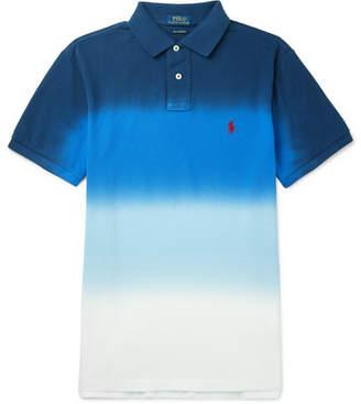 Polo Ralph Lauren Slim-Fit Dégradé Cotton-Piqué Polo Shirt