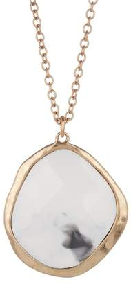 The Sak Cutout Stone Pendant Necklace