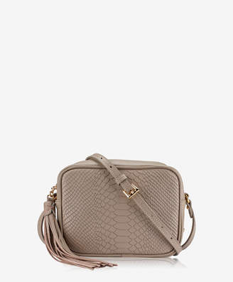 GiGi New York Madison Crossbody Embossed Python