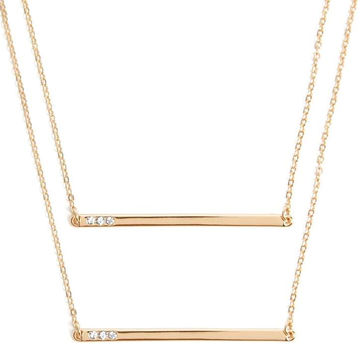 Forever 21 Cable Chain Rhinestone Necklace Set