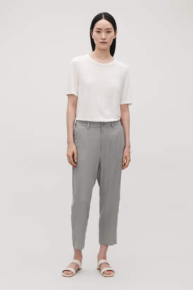 Cos RELAXED SILK TROUSERS