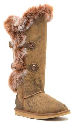 Australia Luxe Collective Nordic Angel Extra Tall Genuine Rabbit Fur and Sheepskin Boot