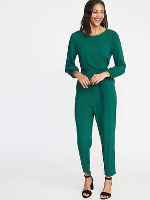 d81f3cea7aa Old Navy Waist-Defined Cross-Back Jumpsuit for Women