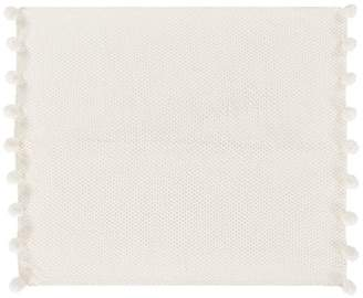 Pottery Barn Teen Lily Ashwell Crochet Pom Pom Throw, 50&quotX60&quot, Ivory