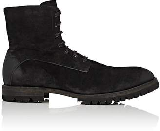 Elia Maurizi Men's Lug-Sole Oiled Suede Boots