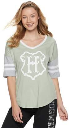 Juniors' Harry Potter Hogwarts Crest Football Graphic Tee