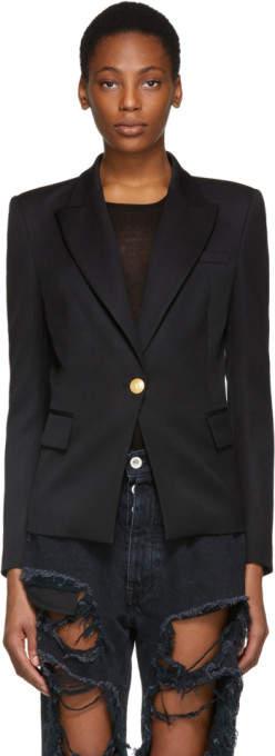 Black Classic Single-button Blazer